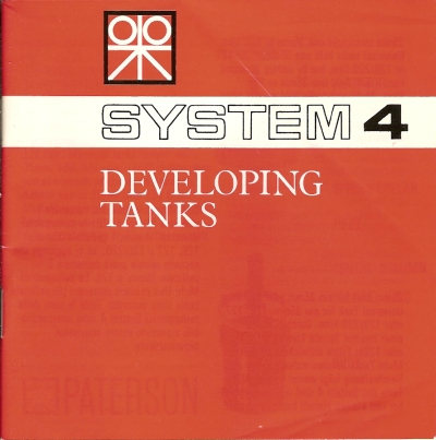 Paterson System 4 Developing Tanks